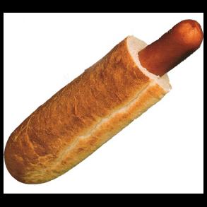 pølse og brød